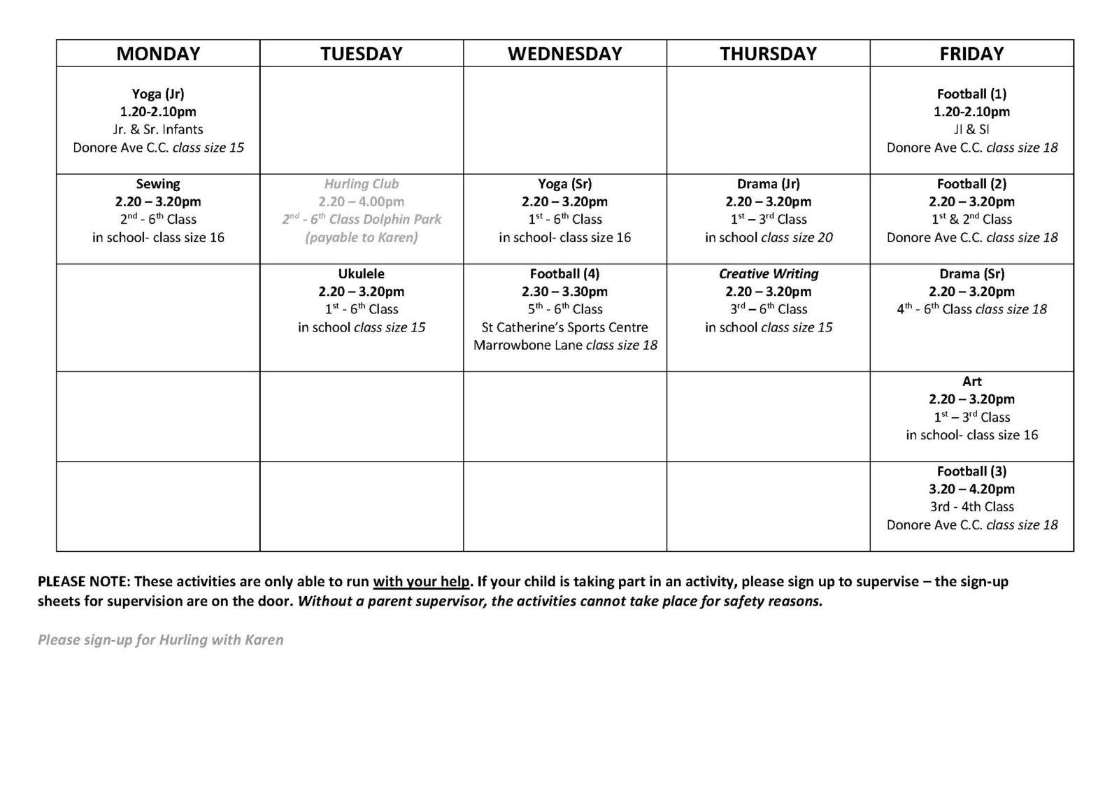 2017-18-term-1-activities-schedule